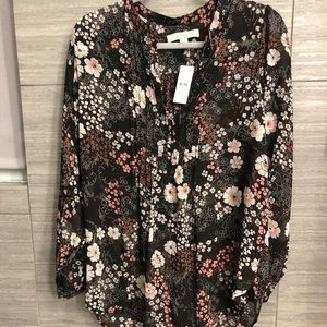 NWT Loft Maternity Floral Button Down Blouse